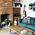 Bleu canard dans un appartement londonien