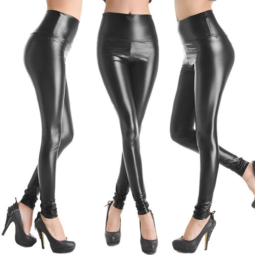 Hot-Sale-Faux-Leather-High-Waist-Leggings-Stretch-PU-Material-Pants-Ladies-Fashion-Leather-Leggings