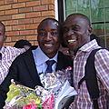 Avec Papa Vital NUMBI et mon collègue Daniel MANKUNA